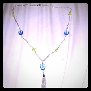 Alfred Dunner Costume necklace blue and yellow